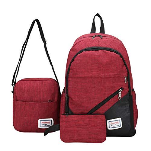 2019 Business Computer Rucksack Travel Tasche Männlich Weiblich Backpack Hoch Schule Student Tasche 3 Stück, Rucksack Jungen Teenager