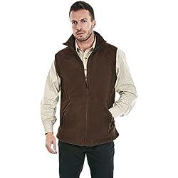 Sherwood Forest Chaleco de Forro Polar Crofton para Hombre, de la Marca, Hombre, Color marrón Oscuro, tamaño Large