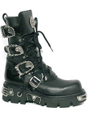 New Rock Metal Boots (391-S1) Black (Größe 48)