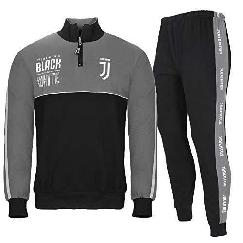 2c2c9fd756 PLANETEX Pigiama Uomo Juve Felpato Abbigliamento Ufficiale Juventus PS  28232-XXL-nero