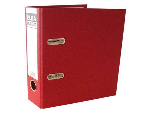 ELBA Kunststoff-Ordner rado plast A5 hoch 7,5 cm breit rot mit Einsteckrückenschild Ringordner Aktenordner Briefordner Büroordner Plastikordner Schlitzordner