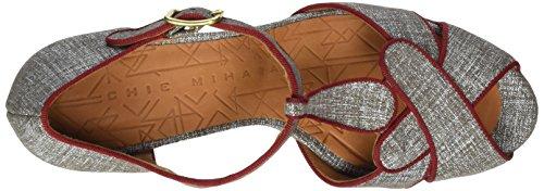 Chie Mihara Damen Igi T-Spangen Sandalen Grau (saco taupe)