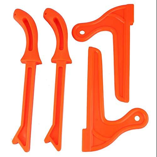 Liukouu 4Pcs Sicherheits-Plastikholzbearbeitung-schützendes Handsäge-Stoß-Stock-Werkzeug für Zimmerei(Orange)