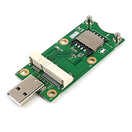 LeHang Mini PCI-E auf USB 2.0 Adapter Test 3G/4G WWAN Modul Mini Pci-E Express Wireless zu USB 2.0 4-Pin Adapter Karte mit SIM-Kartenslot-Modul - Laptop Wireless-karte