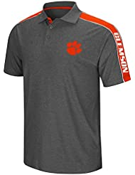 "Clemson Tigers NCAA ""Southpaw"" Men's Performance Polo shirt Chemise - Charcoal"