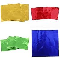 Prettyia 4x100 Piezas de Paquete de Envoltorios Papel de Aluminio para Arte Manualidad DIY