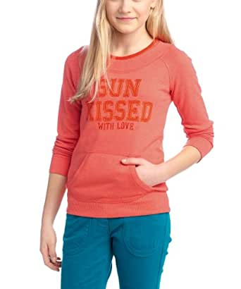 ESPRIT - SweaT-Shirt - Fille - Rouge (622 Peach Red) - FR : 11 ans (Taille fabricant : 146)