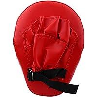 Alomejor 1 par de Almohadillas de Boxeo de Piel sintética para perforar Palmas y jabones, Guantes de Objetivo para Entrenamiento de Karate Muay tailandés Kick Boxing