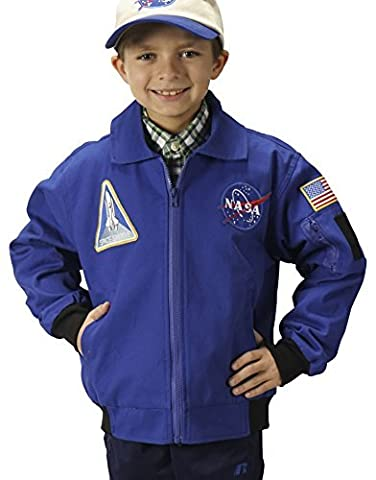 Aeromax Youth NASA Astronaut Flight Jacket, Blue, Large by Aeromax