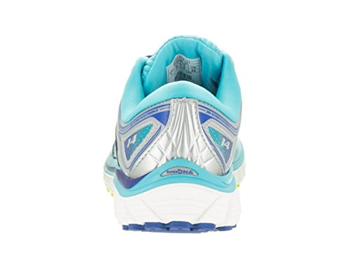 Brooks Glycerin 14 Leder Laufschuh silver/blue atoll/lime punch