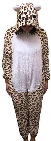 Kind Lady Kostüm Drachen - GW Handels UG Flannel Kostüm Leopard Damen Herren Kinder Karnevalskostüm Faschingskostüm Verkleidung Fleece Fasching Fastnacht Karneval Erwachsene Größe M