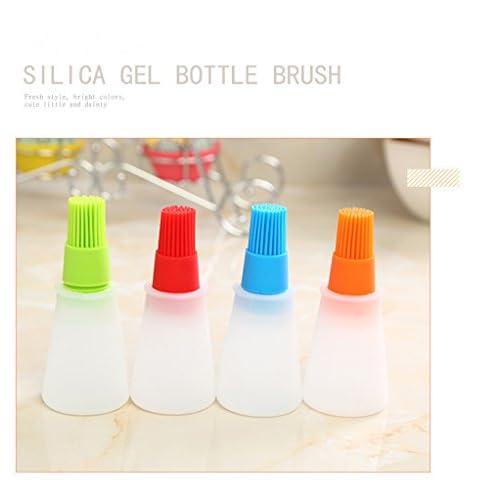 Brilliantday 4pcs Silikon L Flasche Mit Pinsel Fr Barbecue Kochen Backen Pfannkuchen Grill Werkzeuge Lsprays