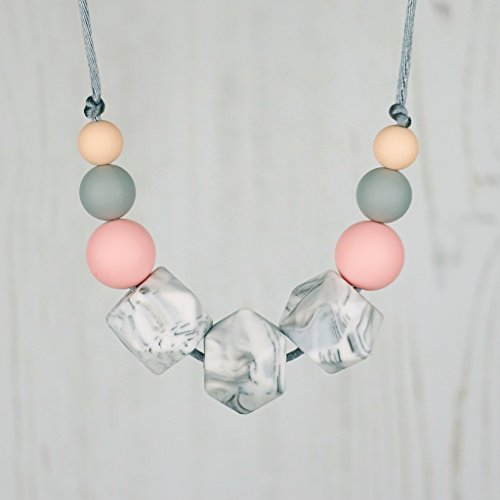 Teething and Fiddle Necklace – ROSE MARBLE: FLORA 41KWIT7vsgL
