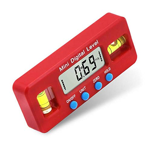 UCTOP STORE Mini-Elektronisches Digital-Messgerät 100 mm Starkes magnetisches Niveaulinometer Winkellineal Messwerkzeug für industrielle Anwendungen Renovierungsarbeiten