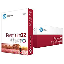 HP Paper, Premium Choice Laser, 32lb, 8.5x11, Letter, 98 Bright, 3000 Sheets / 6 Ream Case (113100C), Made In The USA