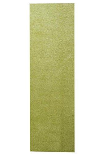 havatex Kräusel Velour Teppich Burbon Läufer - große Farbauswahl | Prüfsiegel: TÜV-geprüft | ideal für Flur Diele Schlafzimmer Büro, Farbe:Apfel-Grün, Größe:80 x 300 cm -