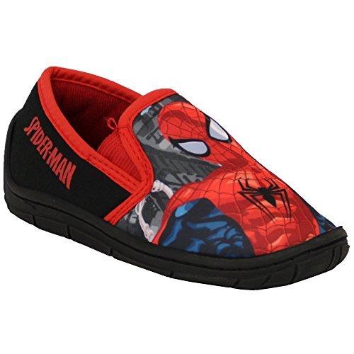 Chaussure Garçon Favori Baskets Enfants Despicable Me Disney Olaf Spiderman À Enfiler Nouveau Rouge/Noir - SMMORTEN