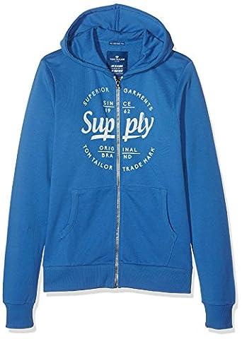 TOM TAILOR KIDS Jungen Sweatshirt cosy Everyday Sweatjacket, , Gr. 176 (Herstellergröße: 176), Blau (midsummer blue