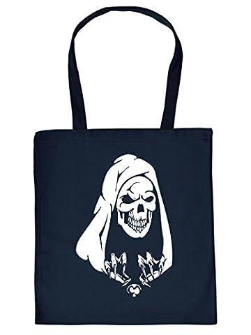Stofftasche, Einkaufstasche für Halloween mit Skelett, Totenkopf! Tragetasche, Stoffbeutel