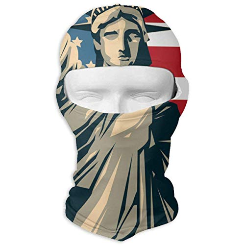 Voxpkrs Balaclava American Flag Statue of Liberty Full Face Mask Windproof Ski Mask Motorcycle Face Masks - Gator Statue