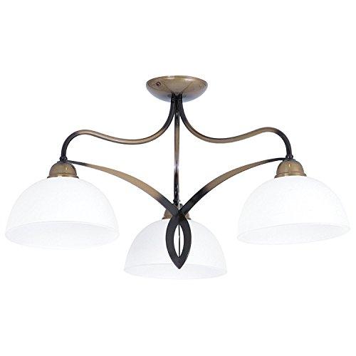 Deckenleuchte Messing Optik E27 3-flammig Wohnzimmer Jugendstil filigran Esszimmer Leuchte Lampe