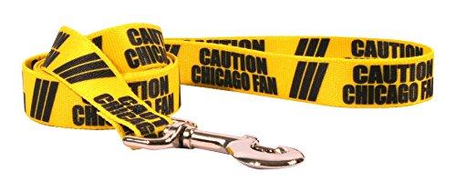 Hundeleine, Design Caution Chicago Fan-Leine, mit Standardgriff, Gelb, 1