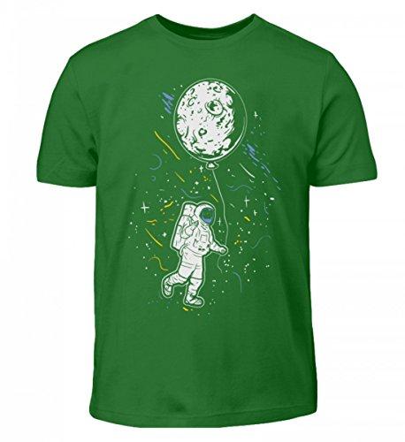 Hochwertiges Kinder T-Shirt - Astronaut mit Ballon - Mond Weltraum Raumfahrer Galaxie Science Fiction Sci-FI ()