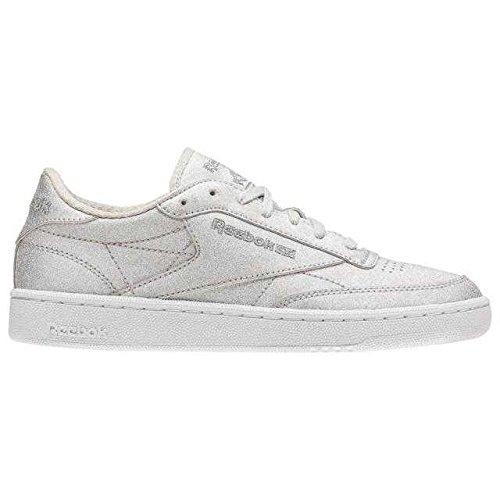 sneakers for cheap a009e f9df3 Reebok Club C 85 Syn, Scarpe Indoor Multisport Donna, (Diamond-Silvr Met
