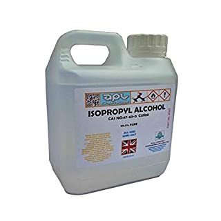 Isopropyl Alcohol IPA Isopropanol 1litre 99.9% pure for sterilising, removing grease and grime and PCB board cleaning