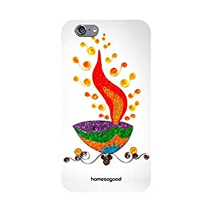 HomeSoGood Diwali Gifts For Diwali Beautiful Flames Of Deepak White 3D Mobile Cover For iPhone 6S