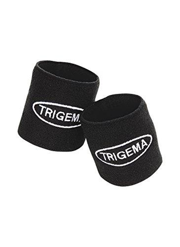 Trigema Mädchen Armwärmer Frottee Schweißband-Set, Gr. One size (Herstellergröße: 2), Schwarz (schwarz 008)