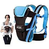 hibote 4 en 1 Portabebés mochila de Tejido de Poliéster Simple y Doble Hombro Conversión para Bebés niños niñas