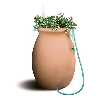 Algreen Products Agua Rain Barrel 50-Gallon, Terra Cotta