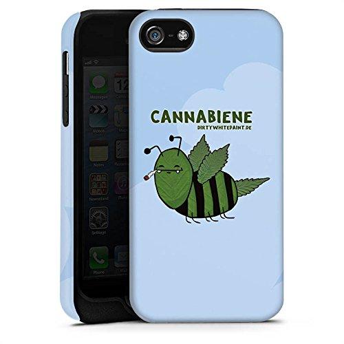 Apple iPhone X Silikon Hülle Case Schutzhülle DirtyWhitePaint Fanartikel Merchandise Cannabiene Tough Case matt