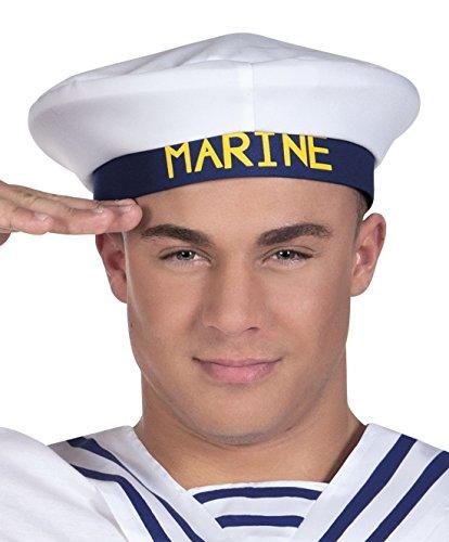 e Offizier Hut Mütze Kostüm, Weiß (Deutscher Offizier Hut)