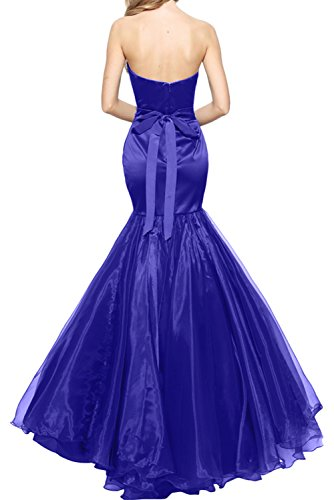 TOSKANA BRAUT Glamour Traegerlos Damen Satin 2017 Neu Meerjungfrau Perlen Organza Promkleider Ballkleider Abendkleid Lang Rot