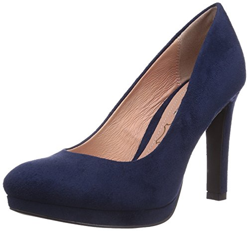 Buffalo Shoes H748-1 P1804D - Scarpe con Tacco Donna, Blu (NAVY), 40 EU