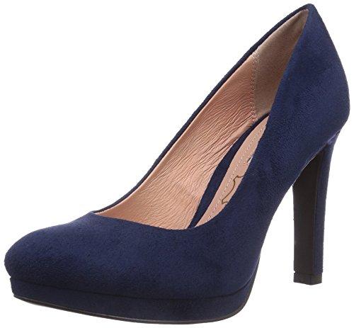 Buffalo Shoes H748-1 P1804D, Damen Plateau Pumps, Blau (NAVY), 39 EU
