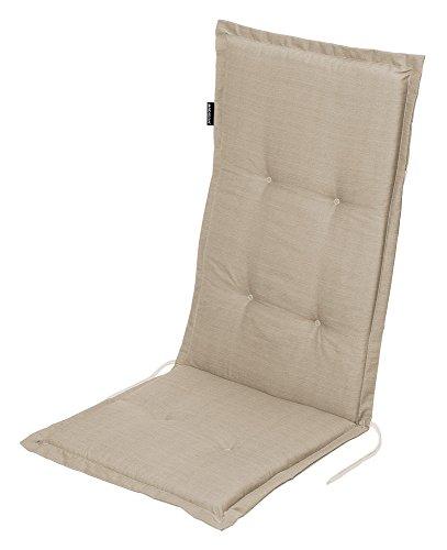 Stuhlauflage für Hochlehner Auflage Gartenstuhlauflage 'Madison Sand' 50x118x5 cm