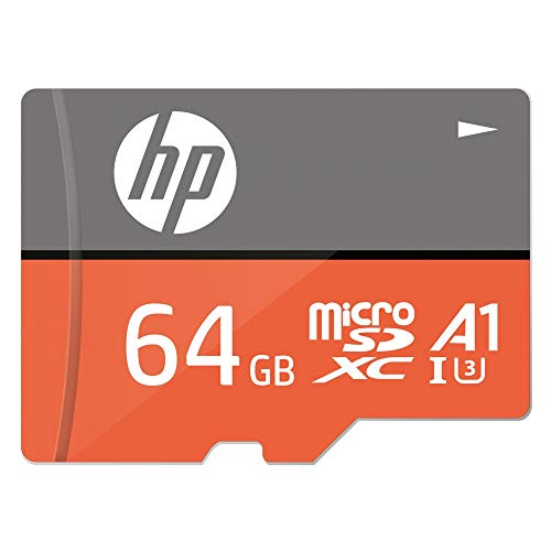 HP MicroSD Card U3, A1 64 GB  High Speed (Write Speed 85MB/s & Read Speed 100 MB/s Records 4K UHD and Fill HD Video)