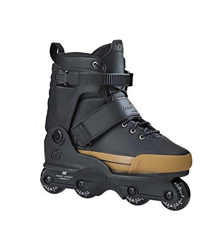 K2 Unisex Frontstreet Inline Skate,Schwarz,42 EU(Herstellergroesse 8 UK) (8 Aggressive-skates)