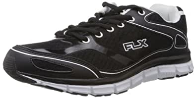 FLX Men's Dexter Black and White Running Shoes - 6 UK (RD1114)