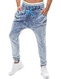 Topgrowth Pantaloni Uomo Jeans Jogging Casual Elastico Denim Slim Fit  Pantaloni A Matita Hip Hop Pantaloni d40d73c0fdcd