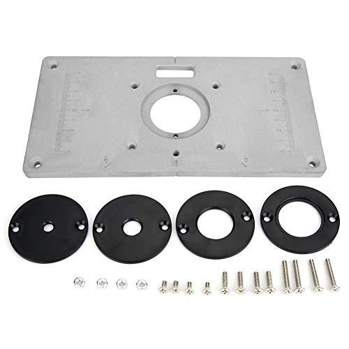 235mm x 120mm x 8mm aluminium holzbearbeitung diy router tabelle einlageplatte & ring elektrowerkzeug zubehör