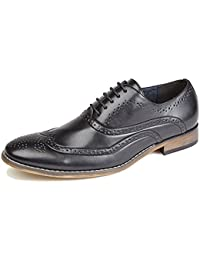 0cc208c6768 Goor Mens 5 Eyelet Brogue Oxford Shoe with Leather Lining