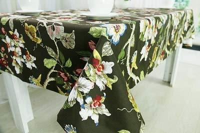 Tablecloth Tischdecke aus Baumwolle gewebt Bedruckte Europa Floral Home/Outdoor/Party Größe: 60 * 60-140 * 250 Weihnachten Manteles para Mesa Bugaboo Nappe, Braun, 140 x 180 (Baumwolle Gewebte Tischdecke)