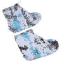 CLISPEED Cubre Zapatas Impermeables Cubrebotas Reutilizables Antideslizantes Cubre Botines Largos de Plástico Botines para Zapatos 1 par de Tallas M / 37-38 (Azul)