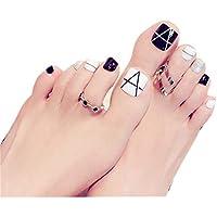 24 unidades Fácil tipo errónea clavos Corto Artificial falsa Toe Nails Variedad Toe clavos ...