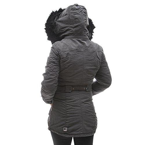khujo Damen Jacke Chives 116 stone-grey