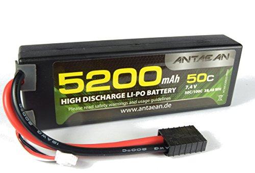 Antaean 2s 7,4V 5200mAh 50-100C Lipo Akku mit Traxxas Stecker (C-47 Modell)